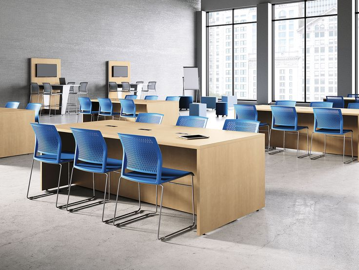 Stra Collaborative Table With Ditto Seating In Learning Educational E Also Features Mio Tables And Stools Background