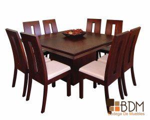 comedor cuadrado ocho sillas muebles pinterest