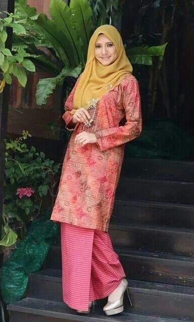 Pink Orange Flower Batik