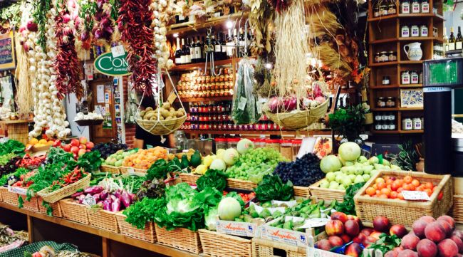 The Central Market in Florence has plenty of fresh produce!