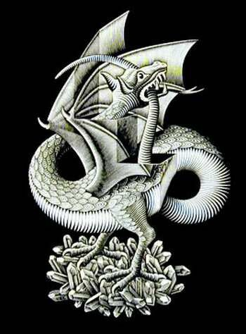 optical illusion illusions scary dragon moving escher dragons ever biting tail mc bite own ultimate worms cycle