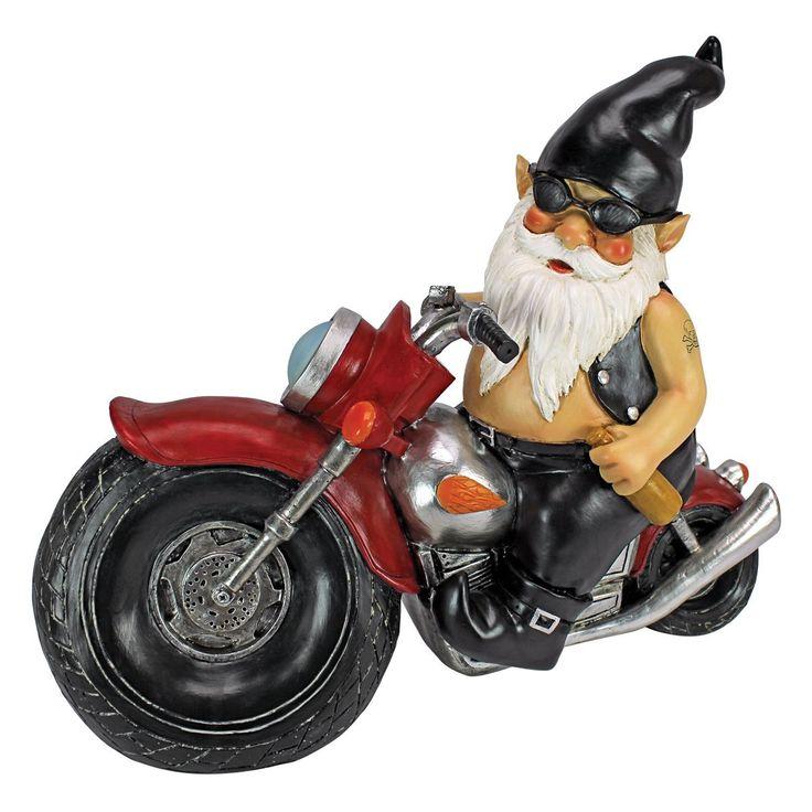 Amazon.com : Design Toscano Axle Grease, The Biker Gnome Statue :  Motorcycle Gnome