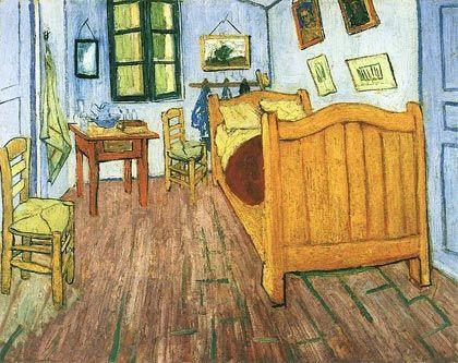 Vincent van Gogh. La habitación de Van Gogh en Arlés (1889)