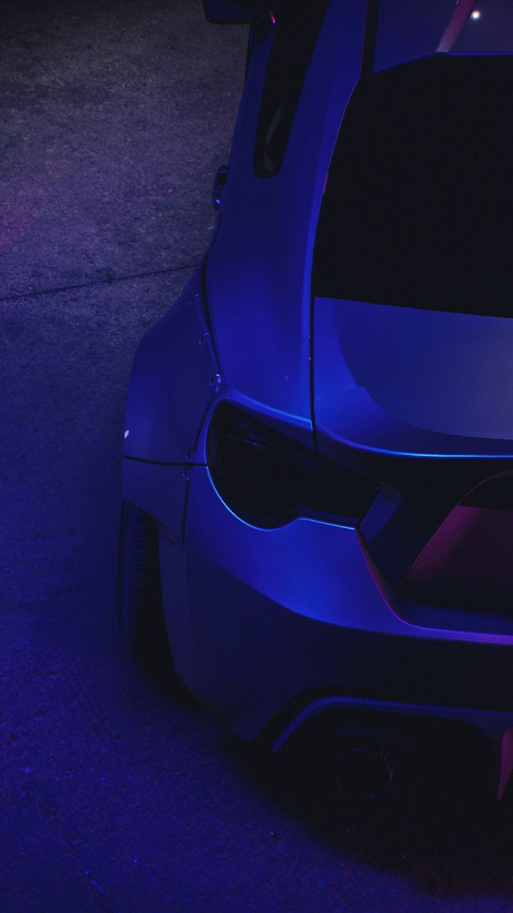 Awe Inspiring Wallpaper 7201280 Neon Sports Car Rear Wallpaper Sports Car Neon Car Car