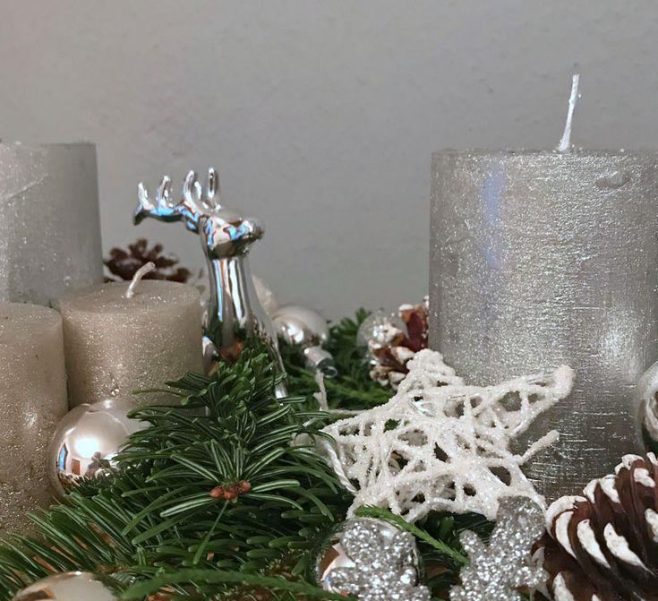 die besten 25 silberne weihnachten ideen auf pinterest. Black Bedroom Furniture Sets. Home Design Ideas