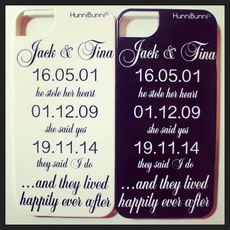 Fairytale Phone Case with a couple's most special dates including the date they fell in love, the date they got engaged and their wedding date. Great for Newlyweds