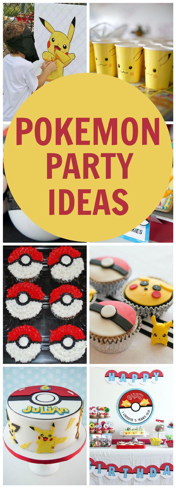 Creative Pokemon Birthday Party Ideas via Pretty My Party                                                                                                                                                                                 More