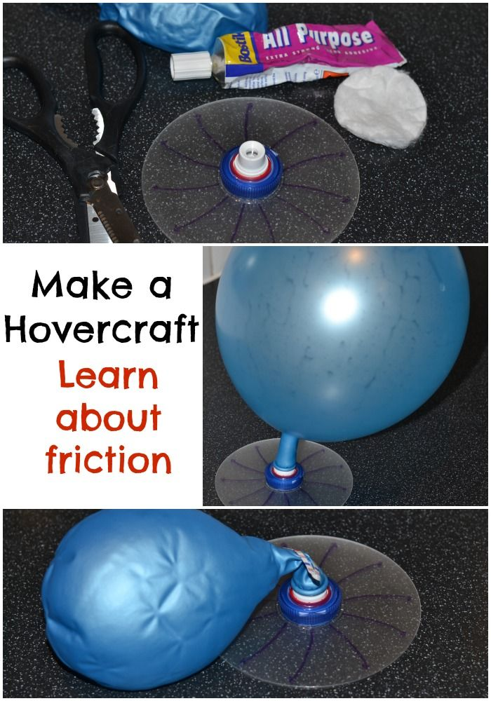 Easy Hovercraft, great way to learn about friction. #Science #Scienceforkids #Forces