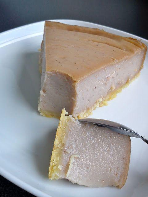 Flan pâtissier à la crème de marrons.