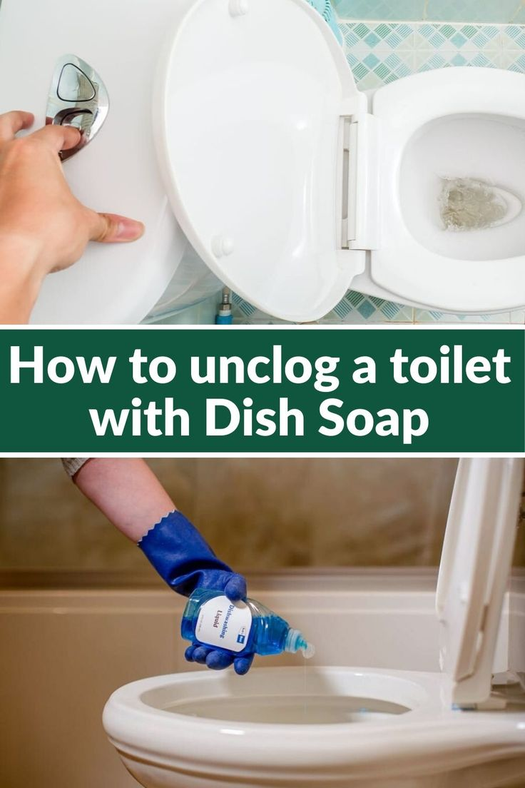 How to unclog a toilet with Dish Soap in 2020 Toilet