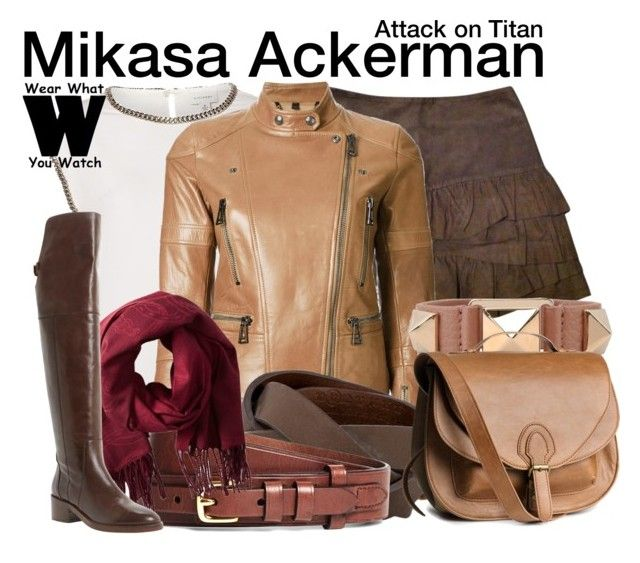 attack on titan by wearwhatyouwatch liked on polyvore featuring maje witchery belstaff. Black Bedroom Furniture Sets. Home Design Ideas