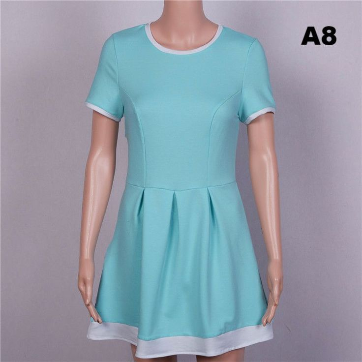 Summer dress women 2017 Sheath dresses Striped Dress Short Sleeve plus size women clothing dresses Mid-Calf