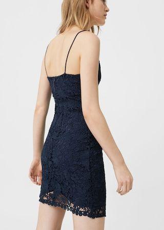Vestido recto guipur | MANGO