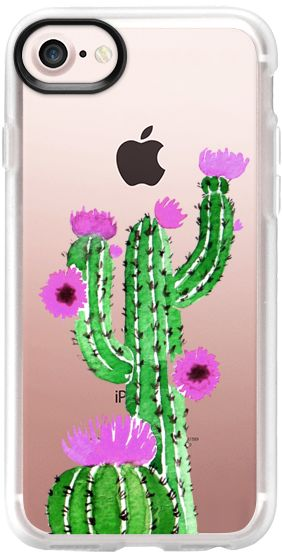 Casetify iPhone 7 Classic Grip Case - Cactus watercolor n.3 by Psychae  #casetify #casetifyartist