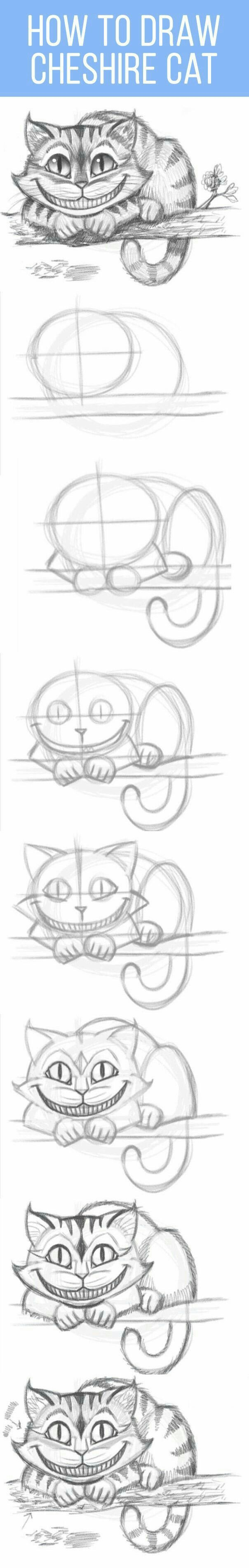 Pinterest el cat 225 logo global de ideas - How To Draw The Cheshire Cat I Love This Little And Couldn T See Not Pinning Him To My Drawing Cats Board