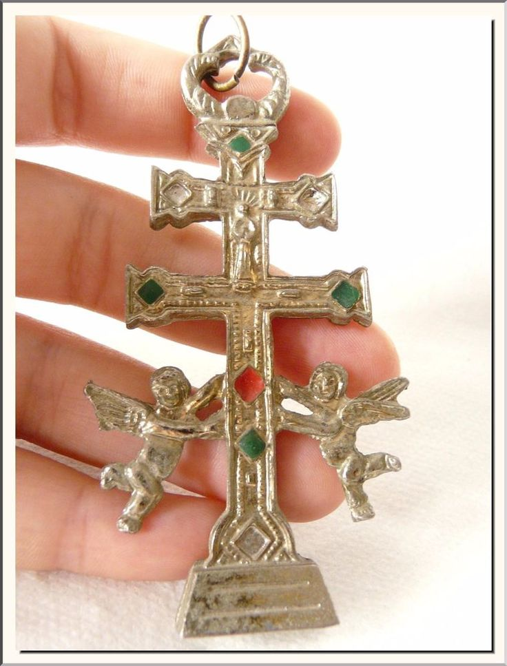 24 best caravaca cross jewelry meaning heartfelt peace gift images antique 1930s caravaca cross w angels spanish enamel big cross crucifix mozeypictures Choice Image