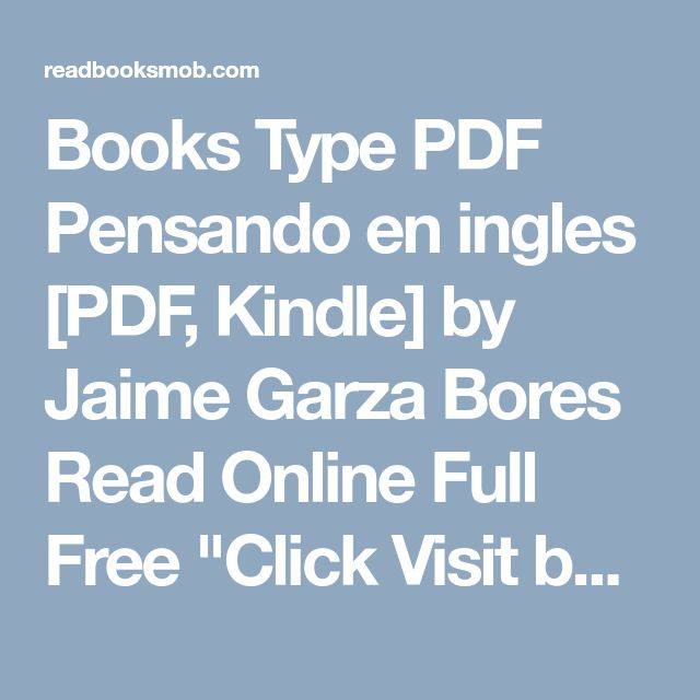 50 best my books images on pinterest books type pdf pensando en ingles pdf kindle by jaime garza bores read fandeluxe Gallery