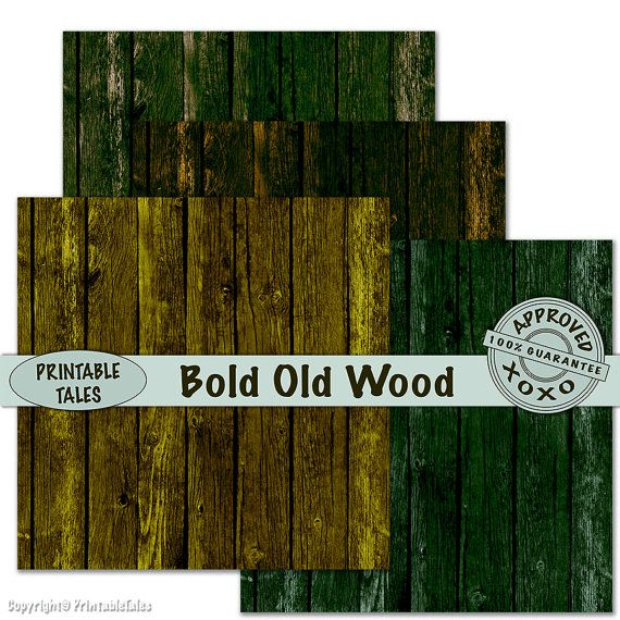Wood Scrapbook Paper Old Distressed Fence Bold by PrintableTales