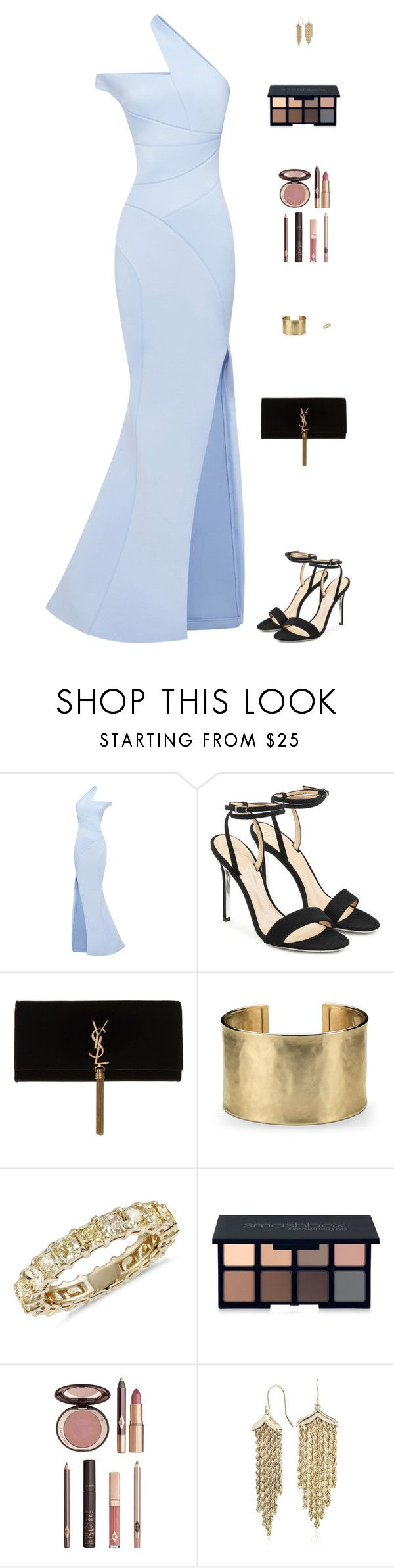 """Untitled #5010"" by mdmsb on Polyvore featuring Giuseppe Zanotti, Yves Saint Laurent, Blue Nile, Smashbox and Charlotte Tilbury"