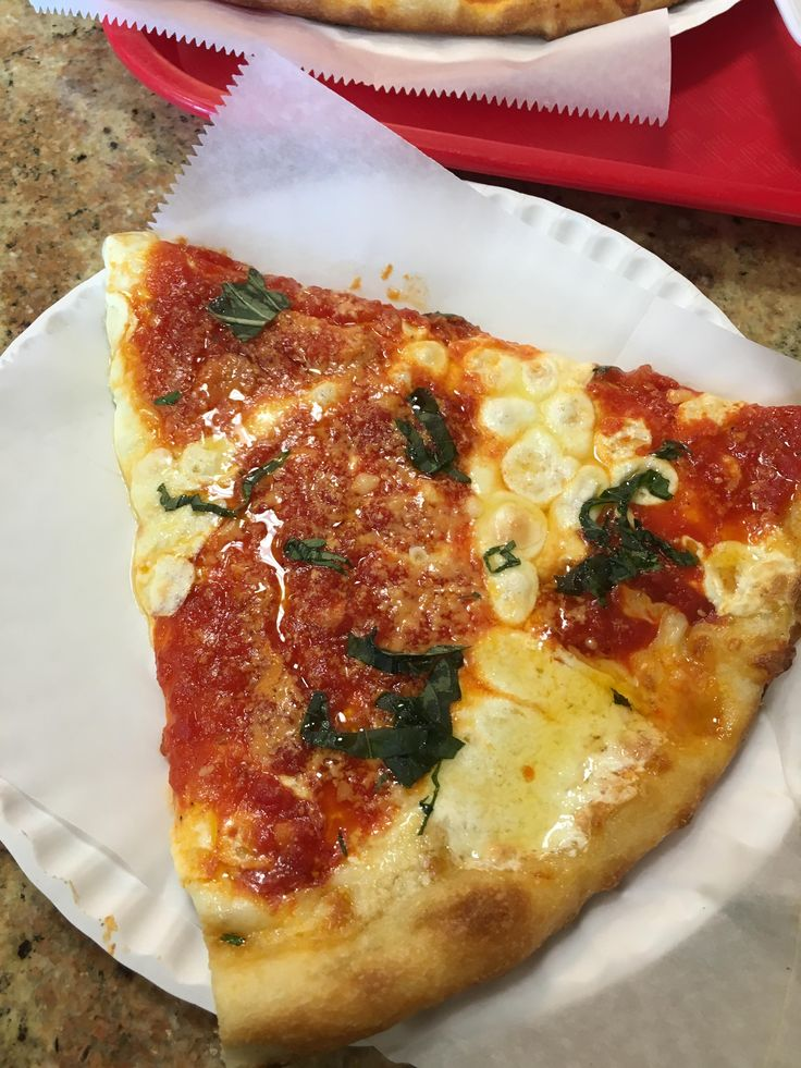 A Margherita Slice form Rosa's Pizza in Port Washington New York. #pizza #food #foodporn #yummy #love #dinner #salsa #recipe