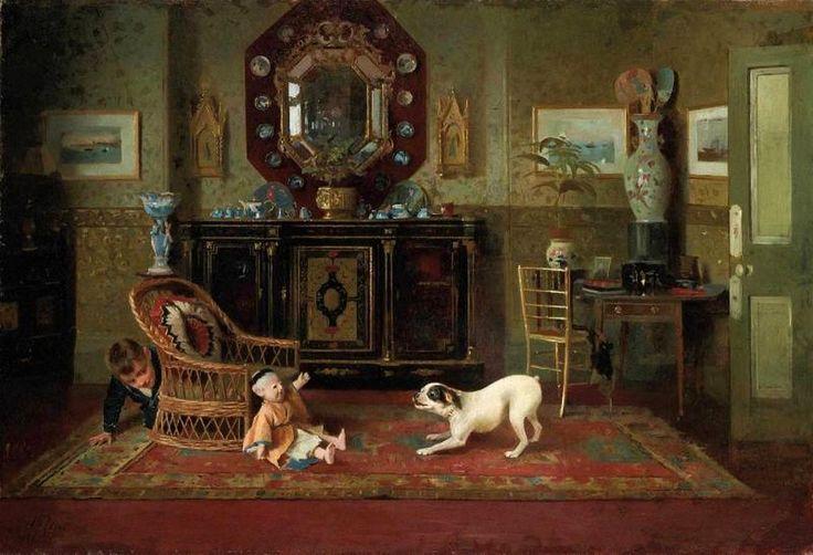 Alexander Mark Rossi (1840-1916) — Playtime, 1888  (900x614):