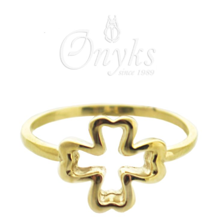 Gold Clover Ring by MyOnyks on Etsy