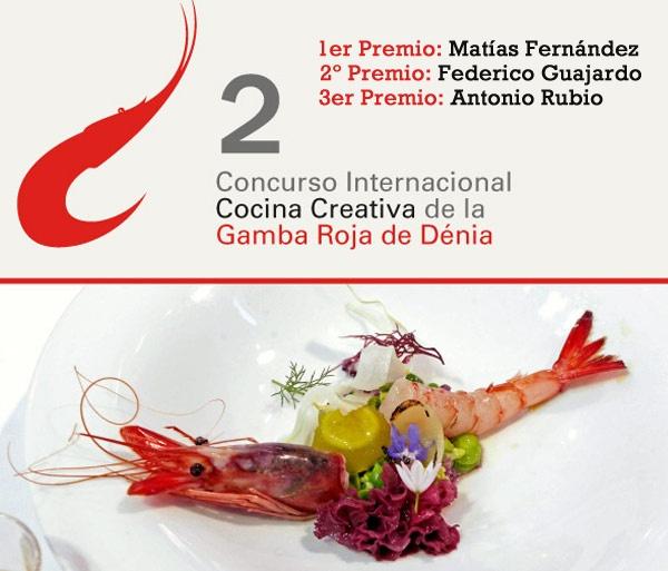 Matías Fernández del restaurante Quinoa de Falset, Tarragona, ha sido el triunfador del II Concurso Internacional de Cocina Creativa de la Gamba Roja de Dénia