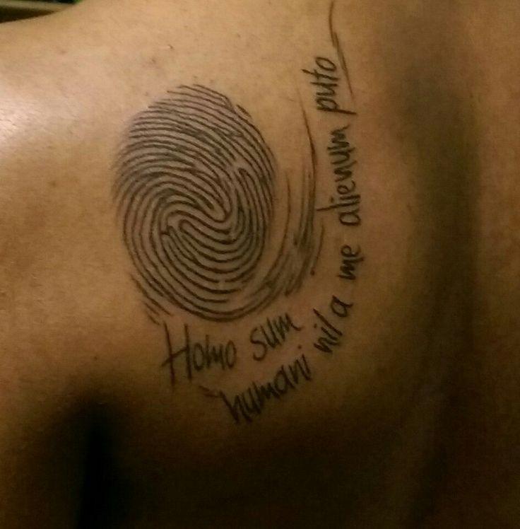 Thumbprint tattoo