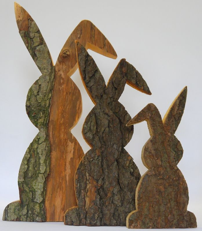 Holzliebe-Hase, Knickohr, rustikal, Gr. 1, Hoehe 26 cm, Holzdeko | HOLZLIEBE-ISERLOHN | WOHNACCESSOIRES AUS HOLZ | MADE IN GERMANY Mehr