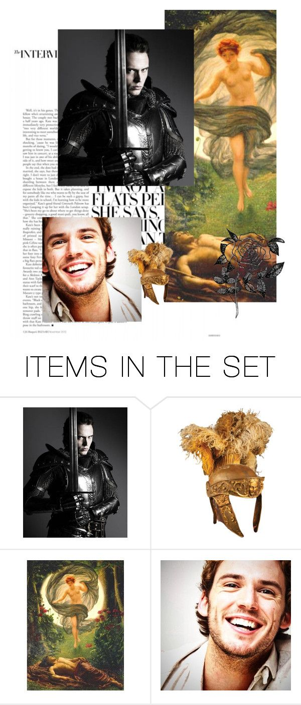 """""""Sam Claflin as Endymion,king of Elis"""" by danicathorne ❤ liked on Polyvore featuring art"""
