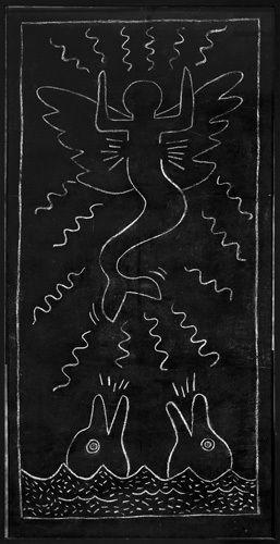 Untitled (subway Drawing) 13 Art Print by Keith Haring at King & McGaw