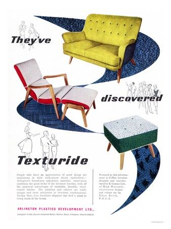 Colorful mid-century furniture, so rad!