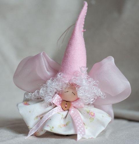 angiolina la campanellina-bomboniera-regalo nascita-fatto a mano