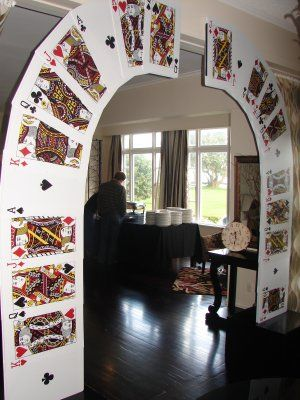 Playing card party arch