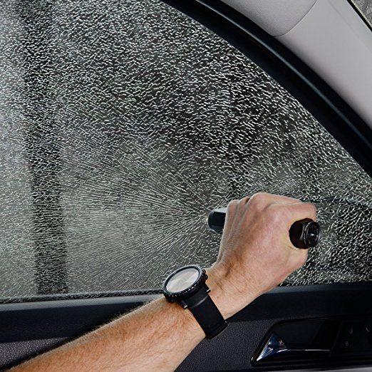 Amazon.com: Herramienta de AutoXscape 3-en-1 de automóviles de emergencia con interruptor de ventana de escape, Rescate del cinturón de seguridad del cortador, y la supervivencia de la linterna, para montaje en vehículos y 3x AAA pilas incluidas, gris / azul: Automoción