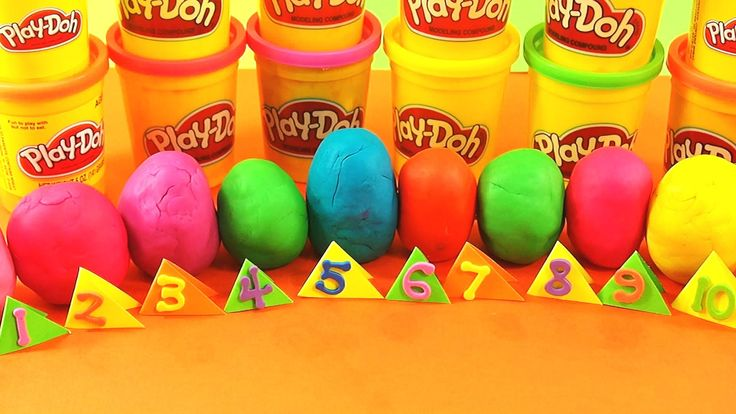 Kinder Surprise Playdoh Toys Numbers