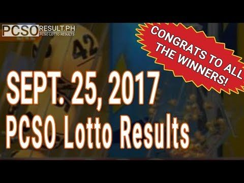 PCSO Lotto Results Today September 25, 2017 (6/55, 6/45, 4D, Swertres & EZ2) - (More info on: https://1-W-W.COM/lottery/pcso-lotto-results-today-september-25-2017-655-645-4d-swertres-ez2/)