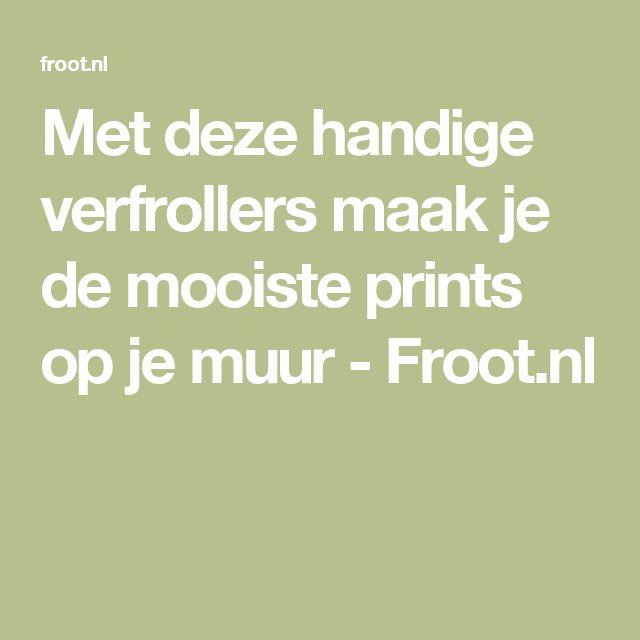 Met deze handige verfrollers maak je de mooiste prints op je muur - Froot.nl