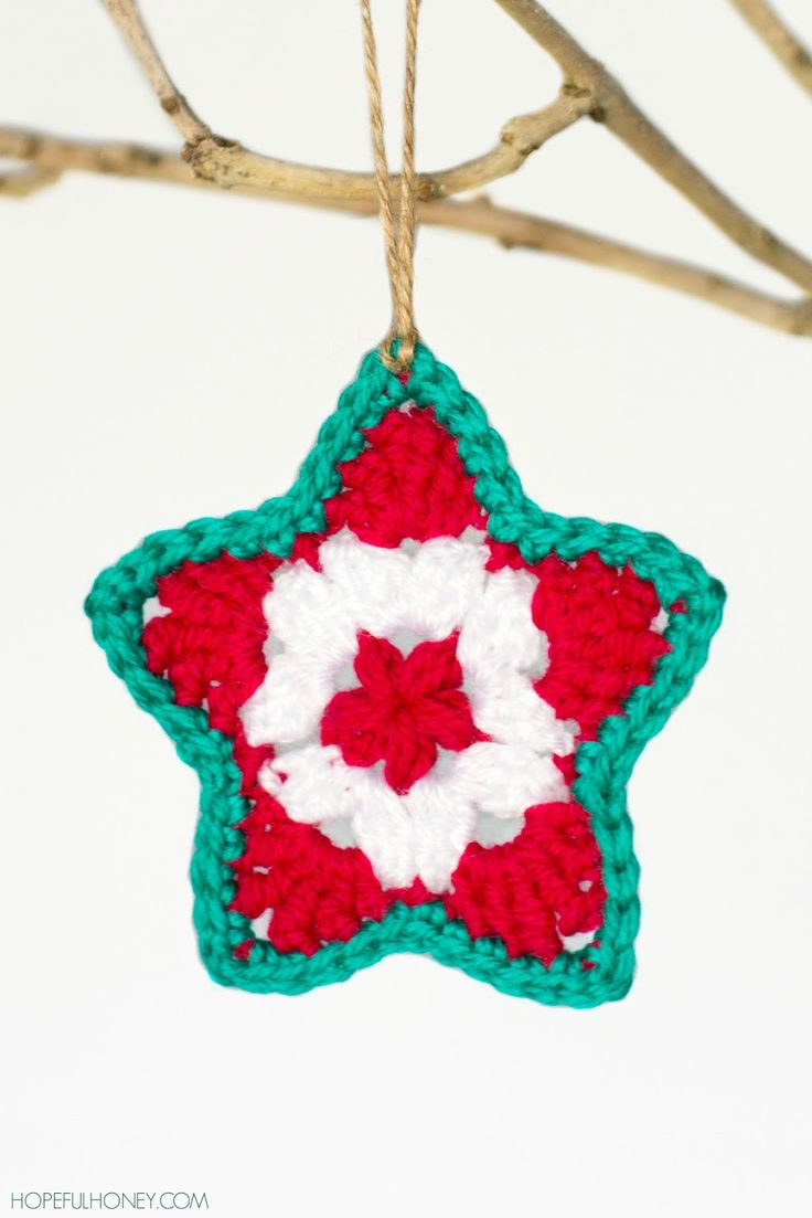 572 best christmas crafts images on pinterest star christmas ornament free crochet pattern from hopeful honey bankloansurffo Choice Image