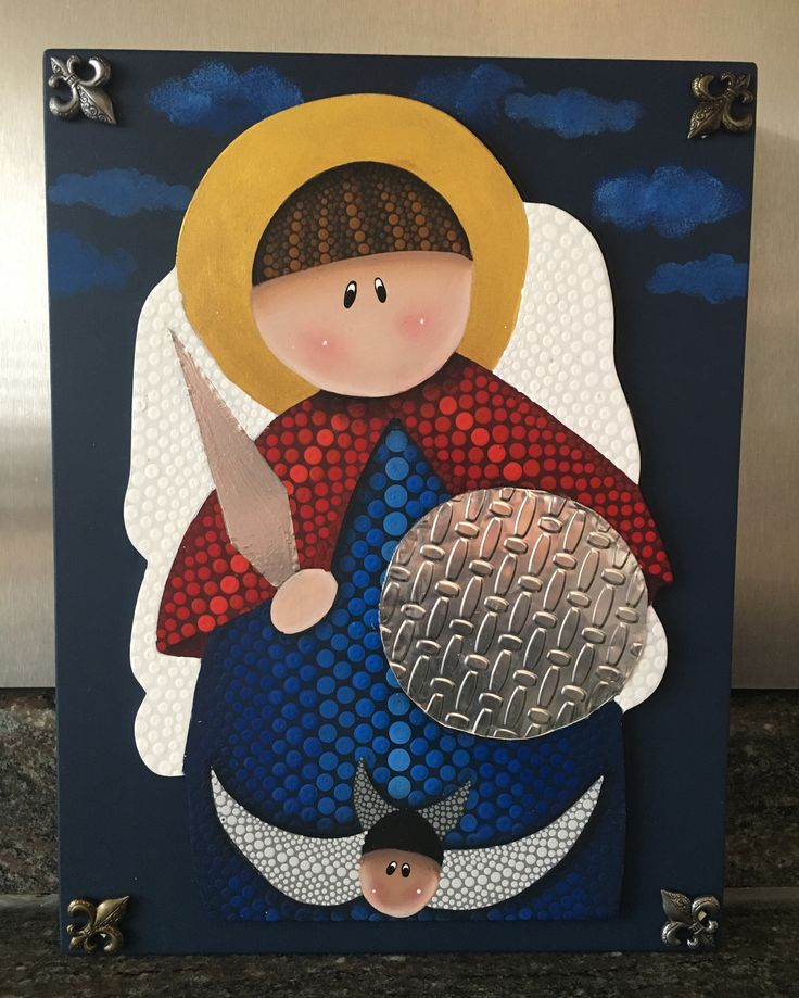 San Miguel Arcángel en puntillismo by CarolVP Arte