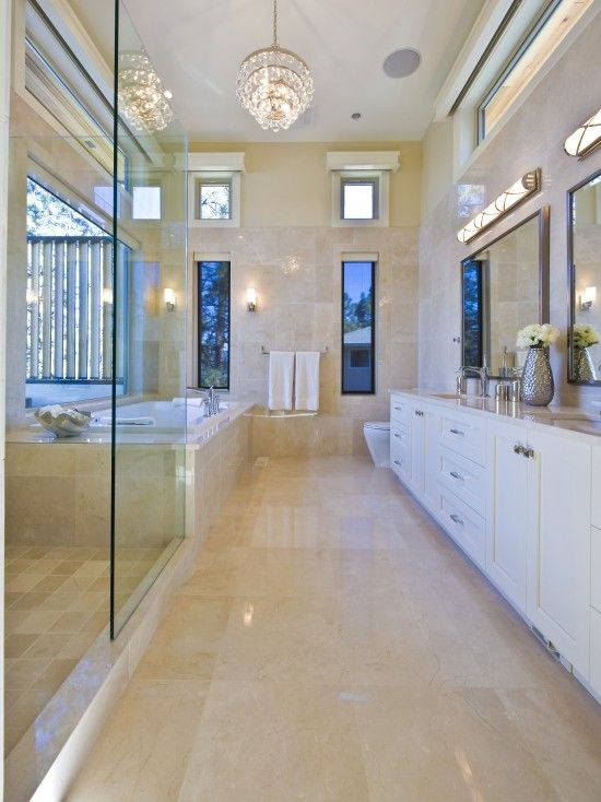 82 best images about home bathroom long narrow on pinterest for Narrow master bathroom