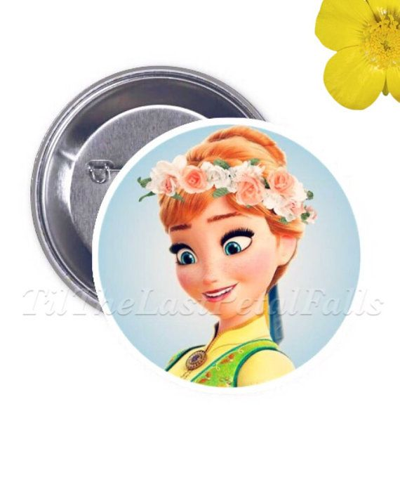Hipster Princess Anna - Your choice of 2-1/4in Button Accessory #TilTheLastPetalFalls #Disney