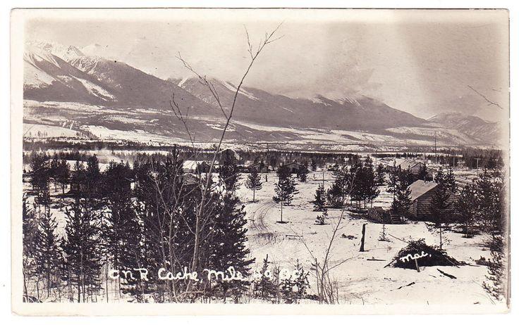 BC – TETE JAUNE CACHE, C.N.R. Mile 49 c.1904-1918 RPPC