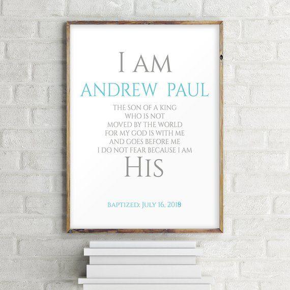 Baptism Gift For Boy Christening