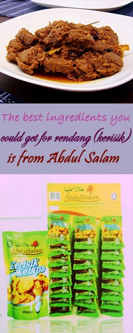 make your rendang during Eid-fitr a special dishes by using Abdul Salam Kerisik