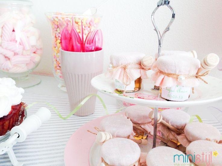 Tandenfeest of babyshower versiering | roze - ministijl
