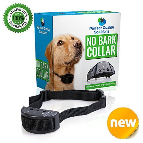 ONE DAY SALE Advance No Bark Collar By PQS-No Harm Shock Dog Control-7 Sensitivity Adjustable Control Levels For Training Small Medium Or Large Dogs-FREE BONUS:Training EBook-Money Back Guarantee -- You can find more details by visiting the image link.