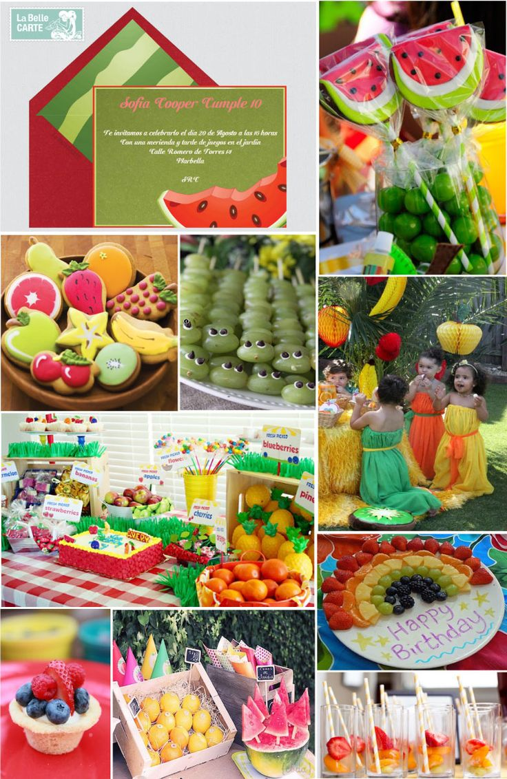 17 best cumple aitana images on pinterest ideas para for Decoracion de frutas para fiestas infantiles