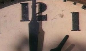 The Clock by Christian Marclay. A 24-hour montage of thousands of film and television clips with glimpses of clocks, watches, and snatches of people saying what time it is.
