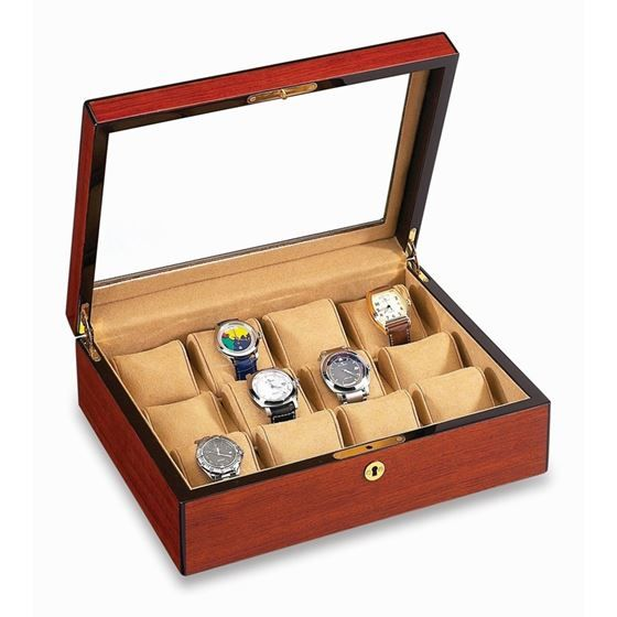 Limited Time Offer: VOX Luxury Twelve 12 Watch Display Holder with Plexiglass Top is now on Sale for a limited time only!   ON SALE $269.00  Retail Price: $399.00 (33% off)   *your special Pinterest coupon will save you even more!